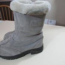 Womens Sorel Gray Snow Boots Size 7  Photo