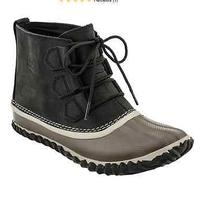Womens Sorel Out N About Leather Upper Waterproof Rubber Bottom Boots 10.5 Nib Photo