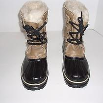 Womens Sorel Ram Duck Boot Size 6 Run Large Rubber Leather Winter Snow Insulated Photo