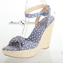 Womens Splendid Stylish Blue Polka Dot Fabric Wedges Shoes Sz. 9.5 M Photo