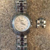 Womens Stainless Steel Fossil Watch Photo