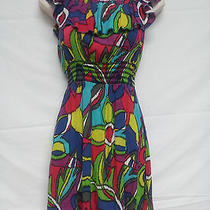 Womens Steve Madden Bright  Colorful Size Medium Ruffle Rayon Dress Photo