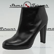 -Womens Stuart Weitzman Black Leather Ankle Boots Shoes Sz. 10 M New Photo