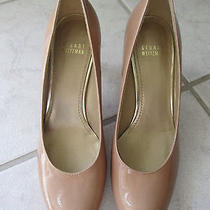 Womens Stuart Weitzman Gorgeous Nude Patent Leather Classic Heels Pumps Sz 7m  Photo