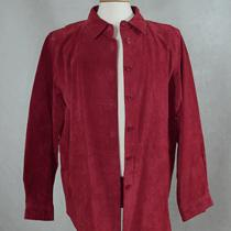 Womens Suede Bagatelle Raspberry Shirt Jacket Us Xl Photo