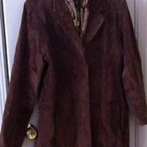 Womens Suede Leather Coat Photo