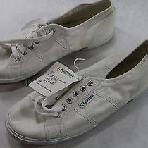 Womens Superga 9.5 M White Canvas Sneakers Walking Shoes Photo