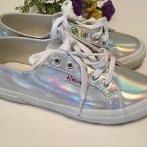 Womens Superga Sneakers Size 7.5m 38 Eu Limited Holographic Shoes Lace Tie New Photo