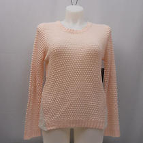 Womens Sweater Size Xl No Boundaries Crochet Lace Sides Long Sleeves Pink Blush Photo