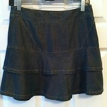 Womens Sz 2 Armani Exchange A/ X Ruffle Blue Jean Skirt Excellent  Gr2-B2 Photo