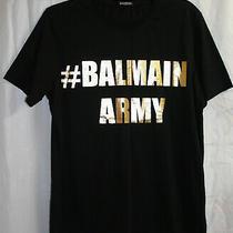 Womens T-Shirtsize large.balmain Army in Gold Shirt Black Photo