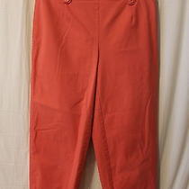 Womens Talbots Capri Pants Coral Size 6 Stretch Free Shipping Pleated Photo