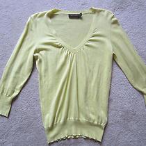 Womens the Limited Yellow v Neck Sweater - Medium Photo