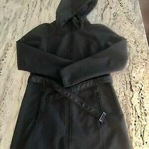 Womens the North Face Black Belted Trench Jacket Size M Photo