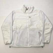 Womens the North Face Denali Fleece Polartec Jacket White Size Large Photo