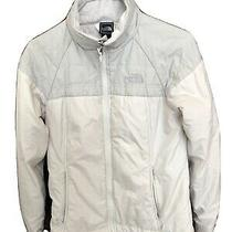 Womens the North Face Fleece Lined Front Zip Jacket Off White Xs Photo
