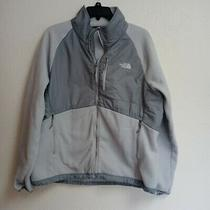 Womens the North Face Grey Fleece Zip Up Fleece Jacket Womens Sz Xl Photo