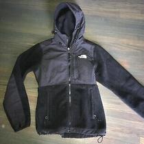 Womens the North Face Ladies Hooded Fleece Coat Top Jacket Black Size Xs Photo