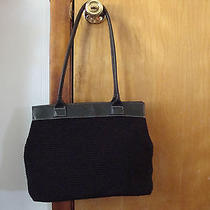 Womens the Sak Black Crochet Handbag Black Purse Photo