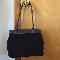 Womens the Sak Black Crochet Handbag Black Purse Photo