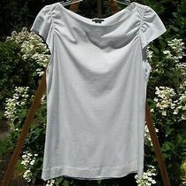 Womens Theory Shirt Top Blousesz Lwhitecotton/spandexexcellent Photo