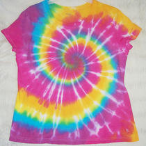 Womens Tie Dye T Shirt Danskin 2x Stretch Green Red Aqua Plum Pink Sun 18 20w Photo