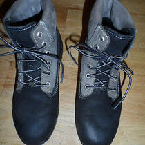 Womens Timberland Boots--Gray and Black-6 1/2