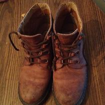 Womens Timberland Brown Leather Boots Sz 8.5 M Photo