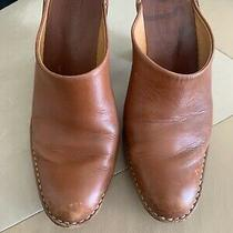 Womens Tods Brown Leather Mule Heel 38.5 Photo