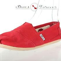 Womens Toms Red Canvas Espadrilles Shoes Sz. 7 Great Photo