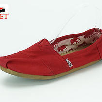 Womens Toms Red Fabric Espadrilles Shoes Sz. 7.5 M Photo