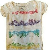 Womens Top Aeropostale Size Xs White/multicolor/sequin Good Condition Photo