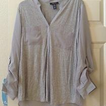 Womens Top Size Medium style&co. Mixed-Media High-Low Top Photo