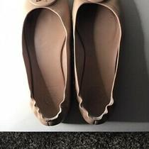 Womens Tory Burch Sand Blush Logo Ballet Flats Shoes Sz 6 Photo