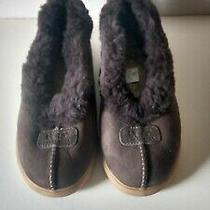 Womens Ugg 1871 Rylan Wool Chocolate Brown Suede Slippers Sheepskin Size 7 Nwot Photo