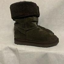 Womens Ugg Australia Classic Tall Dark Brown Sheepskin Boots Size 8 Photo