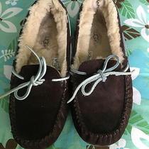 Womens Ugg Australia Dakota Espresso Plush Moccasin Slipper Shoes Us Size 6 Photo