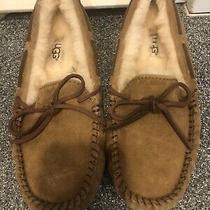 Womens Ugg Australia Slippers Dakota House Shoes Moccasins Chestnut Suede 6 Photo
