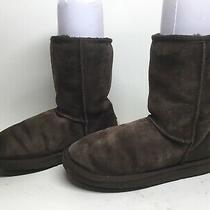 Womens Ugg Australia Winter Suede Dark Brown Boots Size 7 Photo
