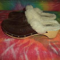 Womens Ugg Australia Wood Sheepskin Leather  Shoes 7 Photo