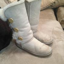 Womens Ugg Bailey Button Triplet Boots S/n 1873 Light Beige Size 8 Photo