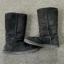 Womens Ugg Boots Size 9 Black Photo