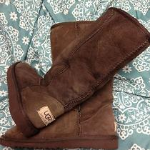 Womens Ugg Boots Sz 5 Brown Tall Fur Lined Photo