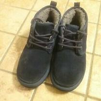 Womens Ugg Neumel Suede Navy Blue Boots Size 7 Photo