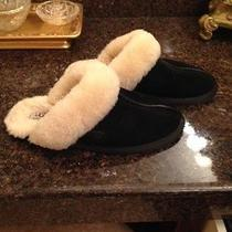 Womens Ugg Slippers Black Size 6 Photo