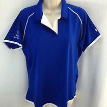 Womens Under Armour Golf Polo Royal Blue Size Xl Moab Golf Club Photo