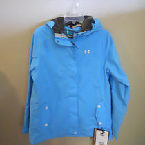 Womens Under Armour Storm Water Proof Jacket Baby Blue Sz Med. Msrp 159.00 Nwt Photo