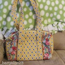 Womens Vera Bradley Elizabeth Retired Yellow Flowered Handbag Purse Very Cute  Photo