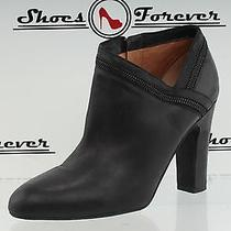 Womens via Spiga Black Leather Ankle Classic Boots Sz. 9 M Photo