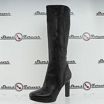 Womens via Spiga Black Leather Knee High Boots Shoes Sz. 10 M Great Photo